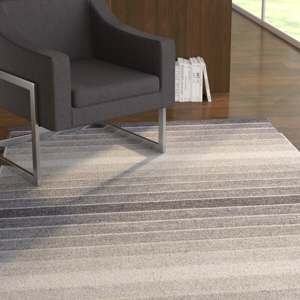 Mcdonald Hand-Loomed Light Gray Area Rug by Ebern Designs