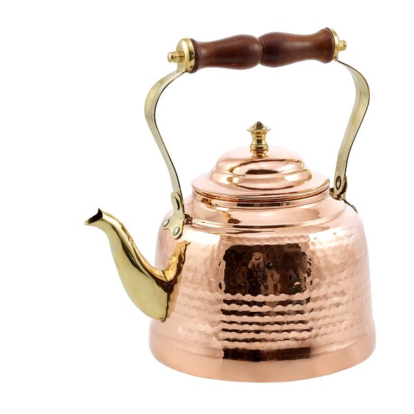 2 Qt. Solid Hammered Tea Kettle by Old Dutch International