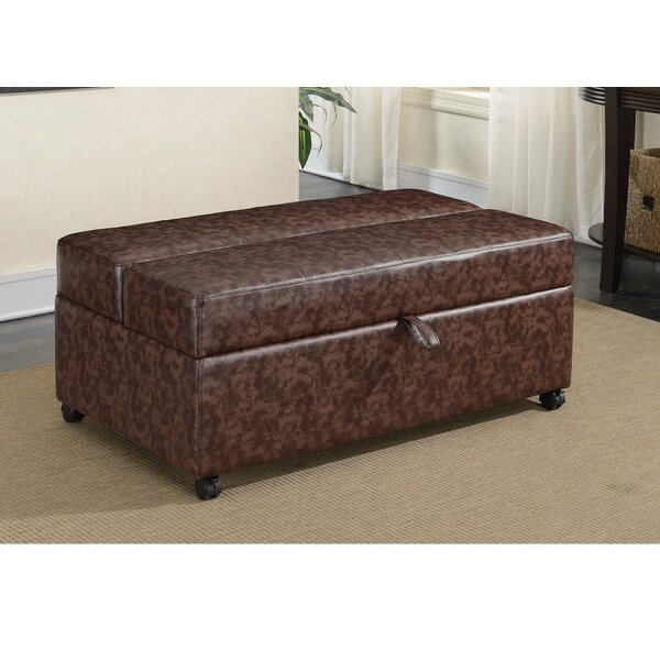Clinton Leather Cocktail Ottoman By Fleur De Lis Living