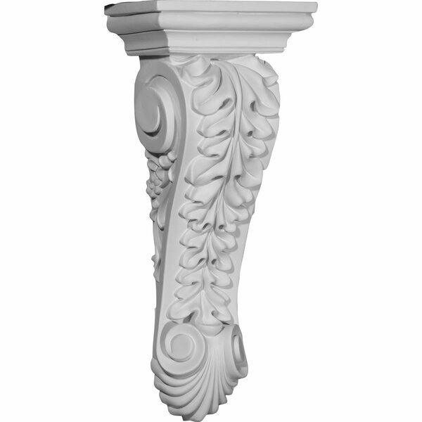 Jackson 14 1/2H x 6 1/8W x 4 1/4D Single Leaf Drop Corbel by Ekena Millwork