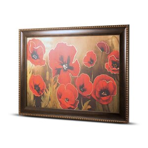 'Poppy Flower' Framed Painting Print on Canvas by Crystal Art Gallery