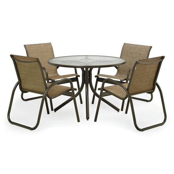 Maust 5 Piece Dining Set with Cushions by Latitude Run