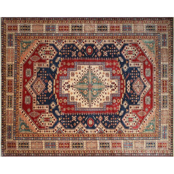 One-of-a-Kind Kazak Super Shahid Hand-Knotted Blue Area Rug by Noori Rug