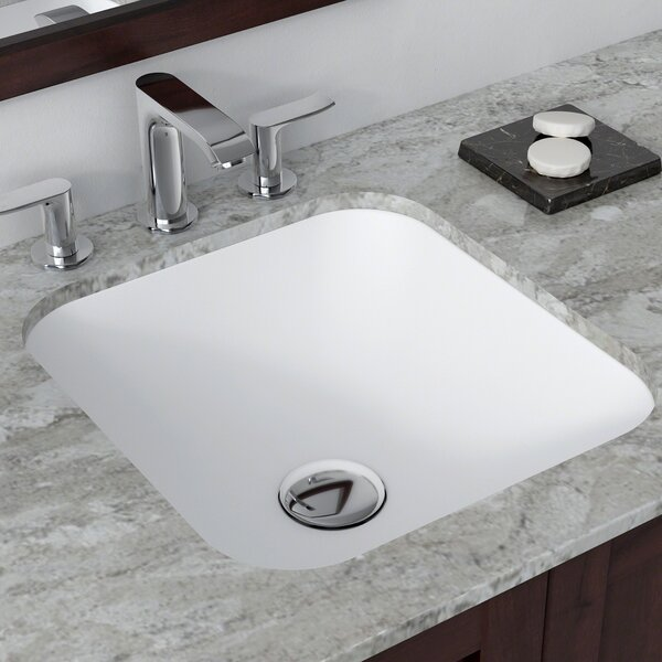 Natura™ Square Undermount Bathroom Sink by Kraus