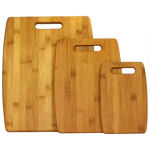 3 Piece Bamboo Cutting Board Set by Oceanstar Design