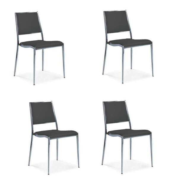 Cowger Upholstered Dining Chair (Set of 4) by Orren Ellis