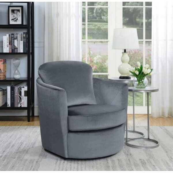 Nimmons Swivel Armchair by Everly Quinn
