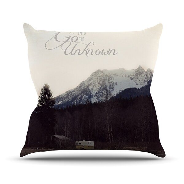 Go Into the Unknown Outdoor Throw Pillow by East Urban Home