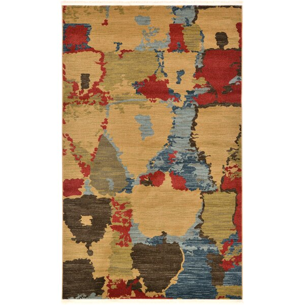 Jan Light Brown Area Rug by Bloomsbury Market