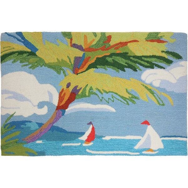 Barnstable Tropical Sail Light Blue Area Rug by Bay Isle Home
