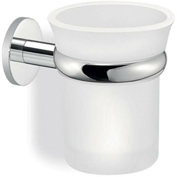 Cowles Twist Wall Frosted Glass Toothbrush and Tumbler Holder by Ebern Designs