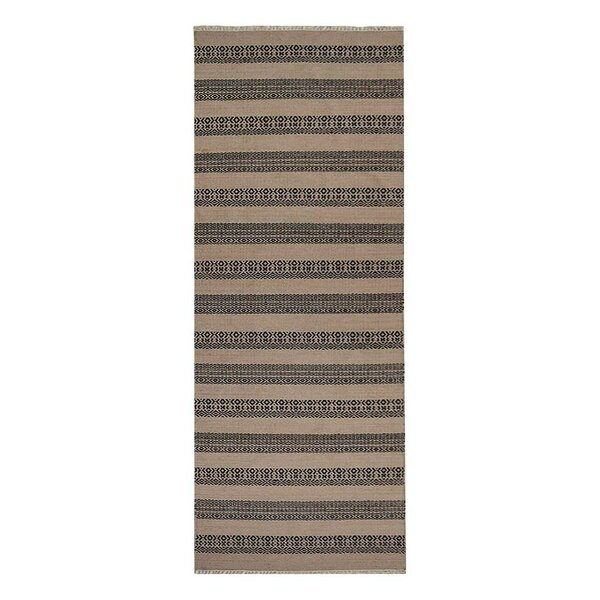 Reyer Hand-Woven Wool Charcoal Area Rug by Wrought Studio