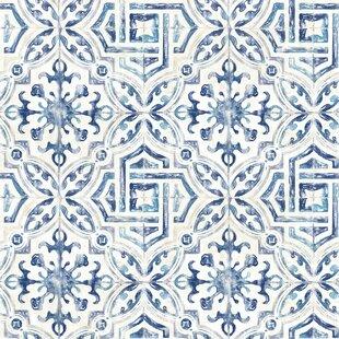 Feinberg Spanish Tile 33 L X 20 5 W Geometric Wallpaper Roll