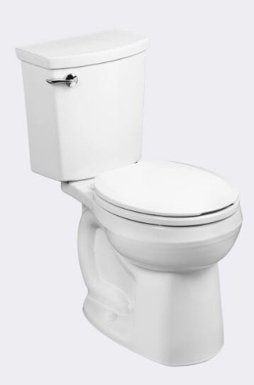 H2Optimum Siphonic1.1 GPF Round Two-Piece Toilet by American Standard