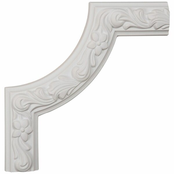 Sussex 10H x 10W x 7/8D Floral Panel Moulding Corner by Ekena Millwork