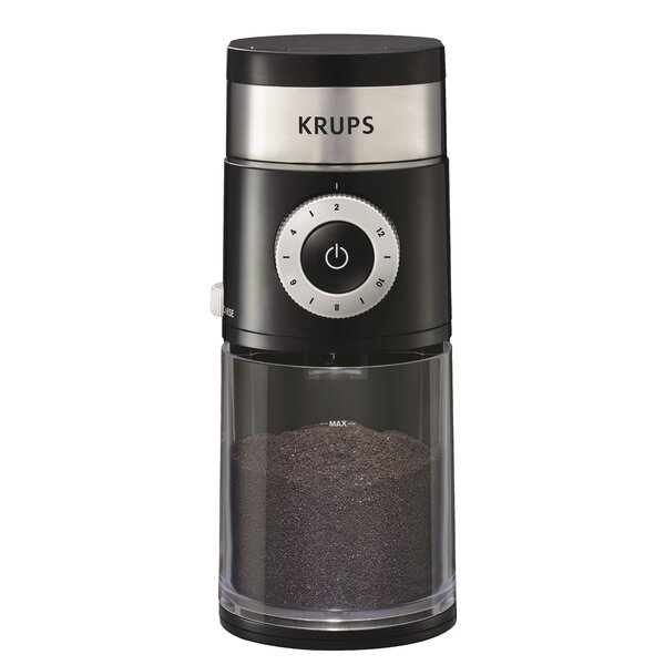 Professional Electric Burr Coffee Grinder by Krups
