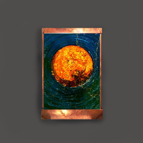 Copper and Acrylic El Sol Galaxy Fountain with Light by Harvey Gallery