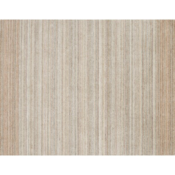 Fienley Hand-Loomed Silver/Blush Area Rug by Ivy Bronx