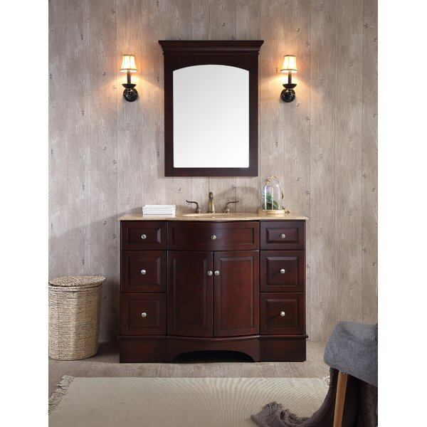 Dale 48 Single Bathroom Vanity Set with Mirror by dCOR design