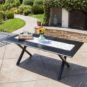 Lourdes Cast Aluminum Extendable Dining Table by Gracie Oaks