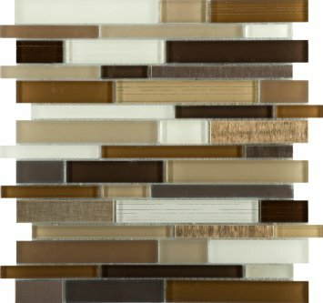 Flash 12 x 12 Glass Linear Mosaic Tile in Radiant by Emser Tile