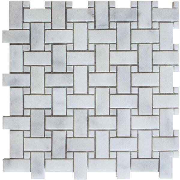 Random Sized Mosaic Tile in Bianco Venantino by Ephesus Stones