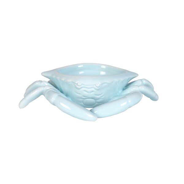 Cape Coral Crab Butter Dish by Fitz and Floyd