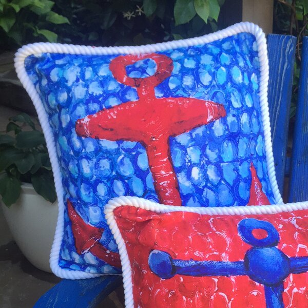 Anchor Throw Pillow by My Island
