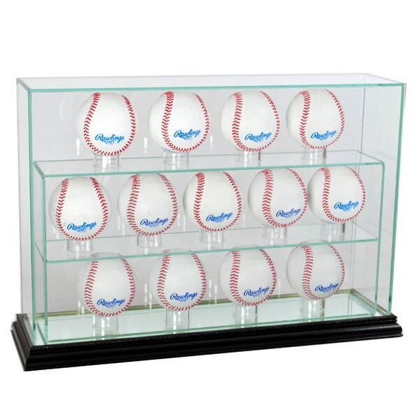 Thirteen Baseball Upright Display Case by Perfect Cases and Frames