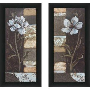 'Floral Memories I' 2 Piece Framed Graphic Art Print Set by Red Barrel Studio