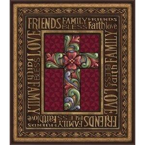 'Blessings Cross' Framed Graphic Art by CB Gift