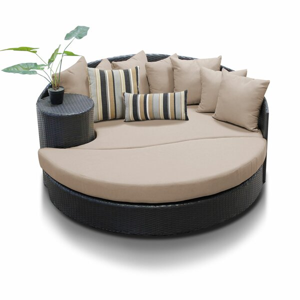 Mercer Patio Daybed with Cushions by Rosecliff Heights