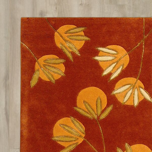 Felton Hand-Tufted Rust Area Rug by Bay Isle Home