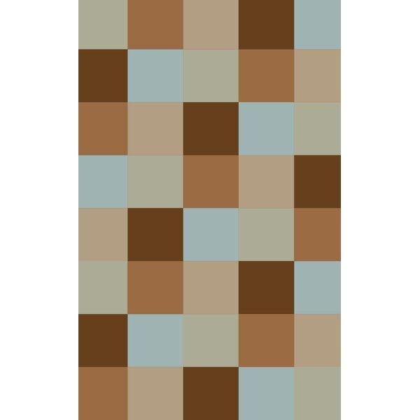 Steinberger Blocks Brown Area Rug by Red Barrel Studio