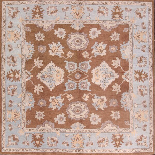 Batson Oushak Hand-Tufted Wool Brown/Blue Area Rug by Canora Grey