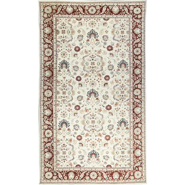 One-of-a-Kind Sultanabad Handwoven Wool Cream/Red Indoor Area Rug by Bokara Rug Co., Inc.