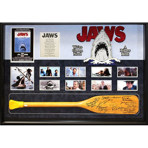 Jaws Cast Framed Autographed Oar Collage by LuxeWest