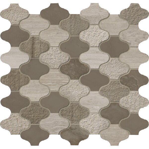 Arctic Storm Arabesque Marble Mosaic Tile in Gray by MSI