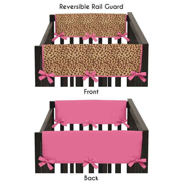 Cheetah Girl Side Crib Rail Guard Cover (Set of 2) by Sweet Jojo Designs