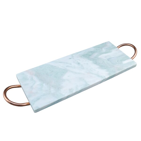 Rectangular Majestic Marble Serving Tray with Handle by Patina Vie