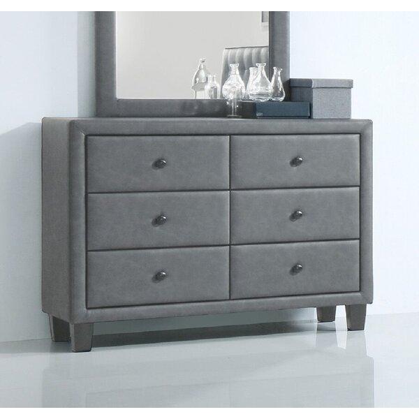 Kolten PU 6 Drawer Double Dresser by Alcott Hill