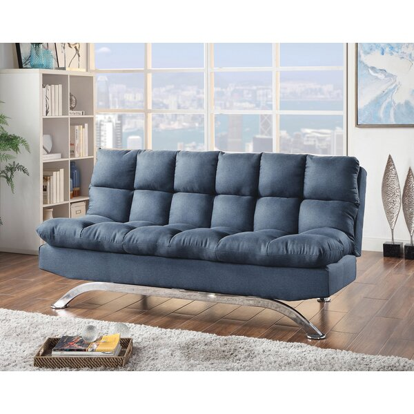 Wynona Armless Futon Convertible Sofa by Orren Ellis