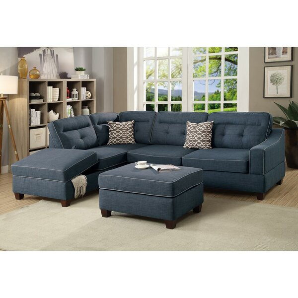 Laforce Reversible Modular Sectional with Ottoman by Alcott Hill