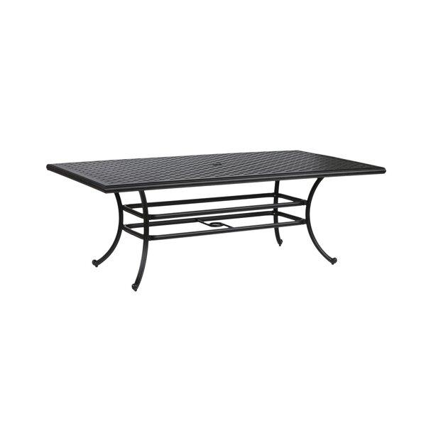 Salia Aluminum Dining Table by Fleur De Lis Living