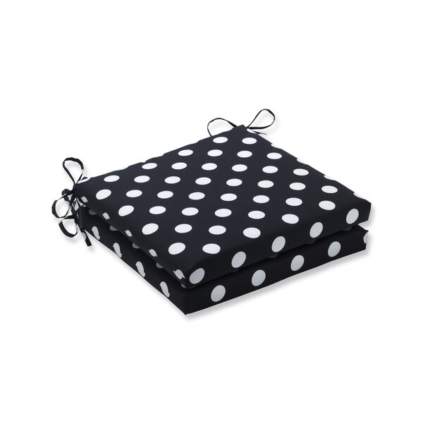 Polka Dot Indoor Lounge Chair Cushion (Set of 2) by Latitude Run