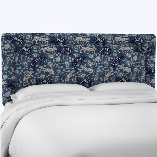 Seodat Linen Upholstered Panel Headboard by Bloomsbury Market