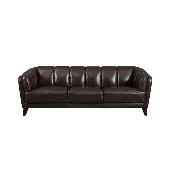 Great Selection Zainab Craft Leather Sofa Hot Bargains! 60% Off