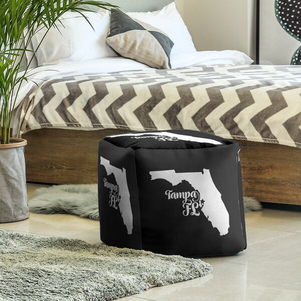Tampa Florida Cube Ottoman By East Urban Home