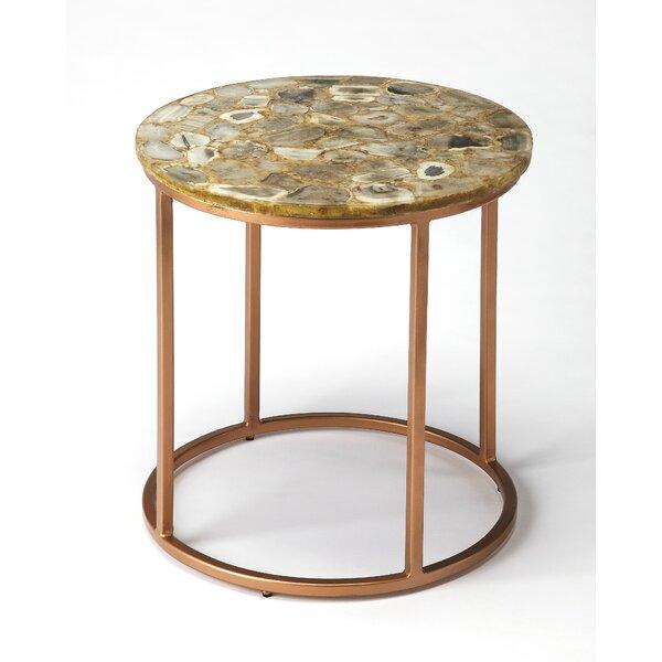 Aliya Agate End Table by Everly Quinn