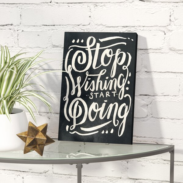 Start Doing Noir Textual Art on Wrapped Canvas by Wrought Studio
